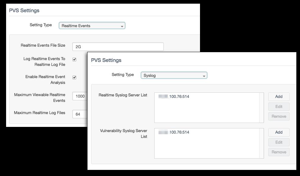 PVS real-time setup
