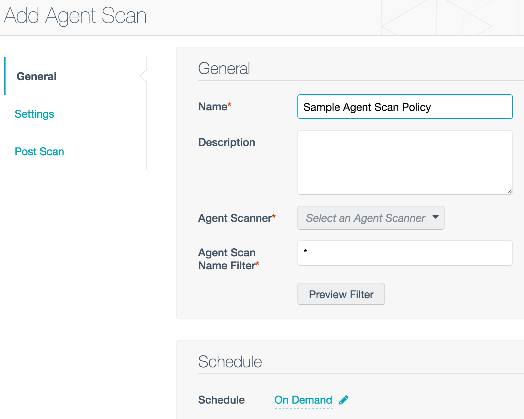 Adding an agent scan in Nessus Cloud