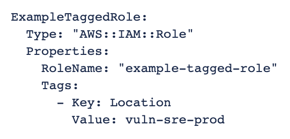 Adding tags using CloudFormation