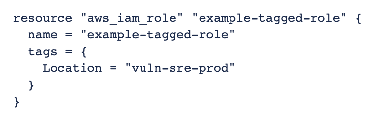 Adding tags using Terraform