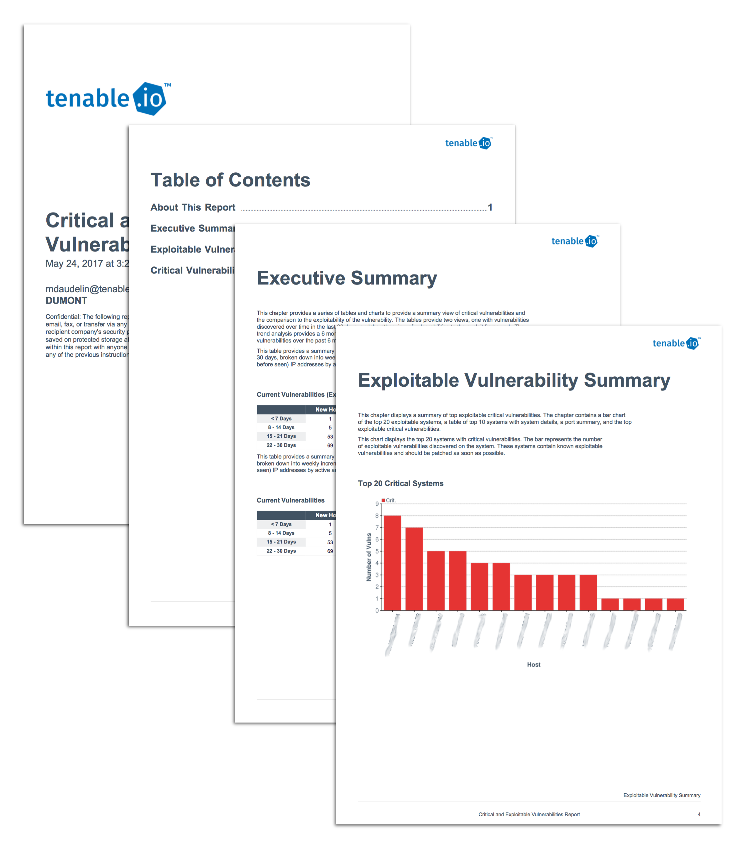 Tenable.io Critical and Exploitable Vulnerabilities report