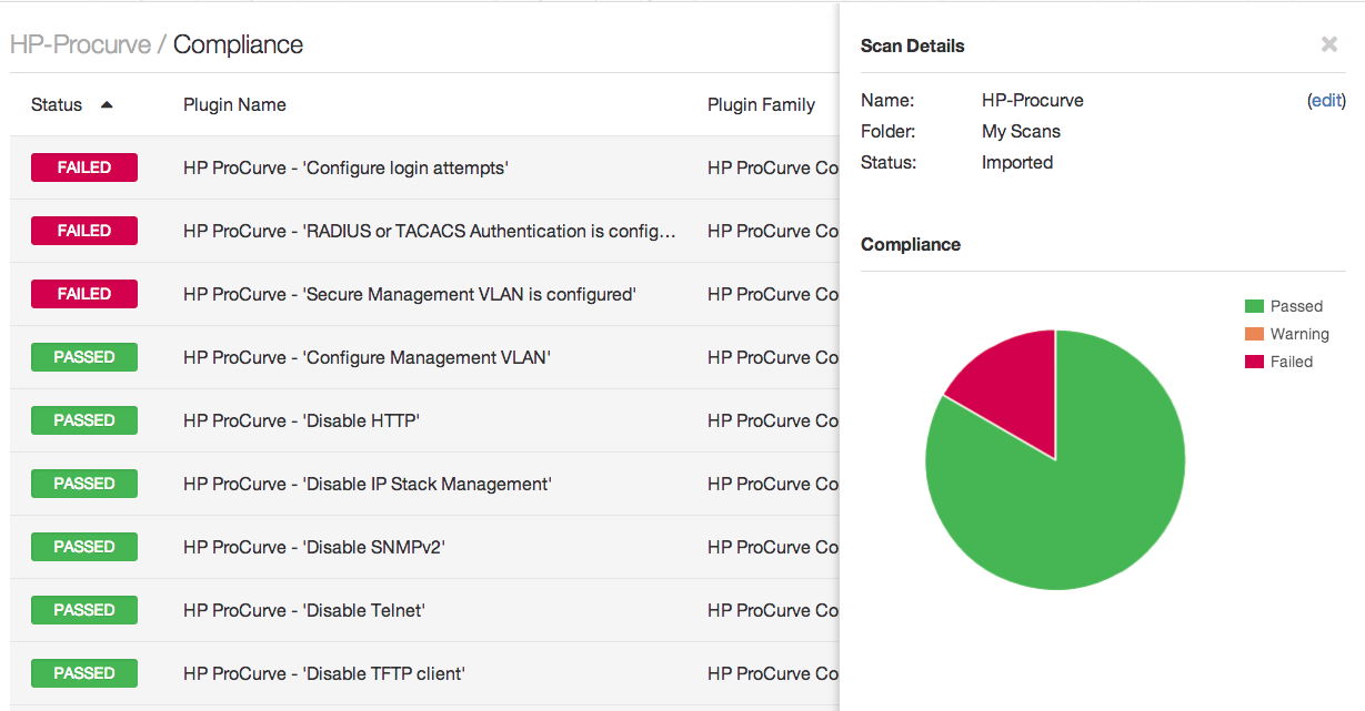 Nessus Audits HP ProCurve Routers - Blog | Tenable®