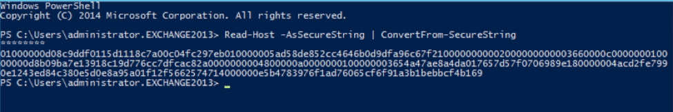Read-Host -AsSecureString | ConvertFrom-SecureString
