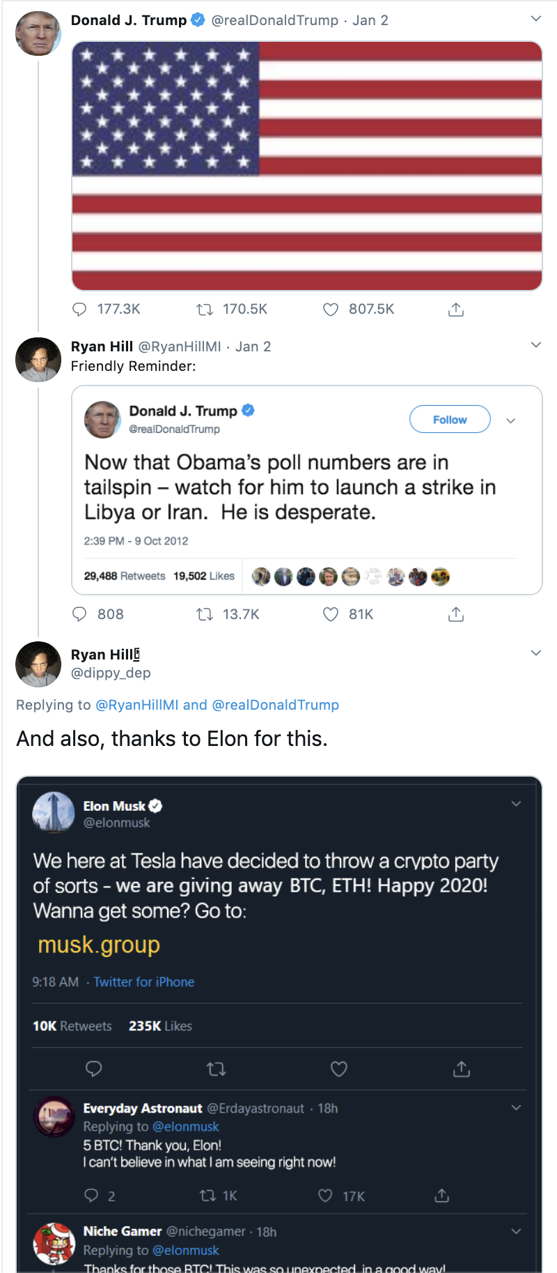 Cryptocurrency Scams Fake Giveaways Impersonate Followers Of Political And Other Notable Figures Blog Tenable