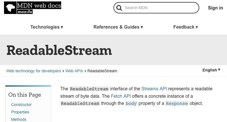 ReadableStream