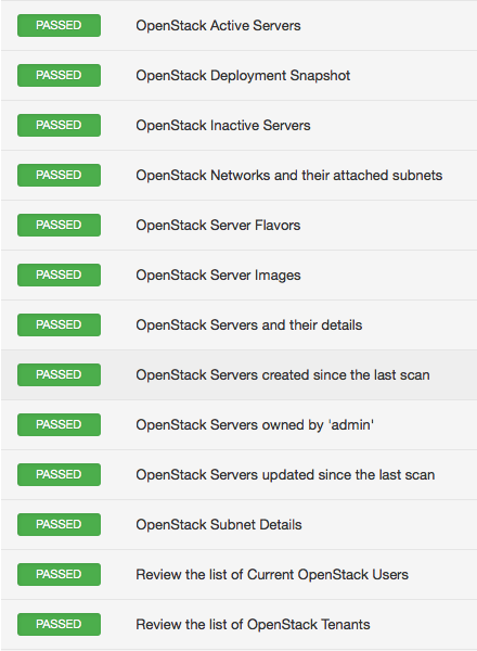 OpenStack plugin results