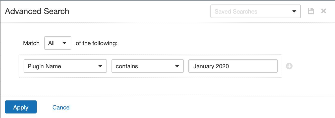 Plugin Name Contains January 2020