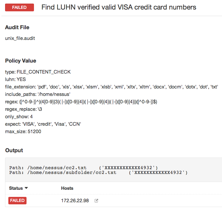 failed find luhn verified valid visa credit card numbers