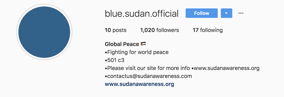 Instagram scam Sudan Meal Project