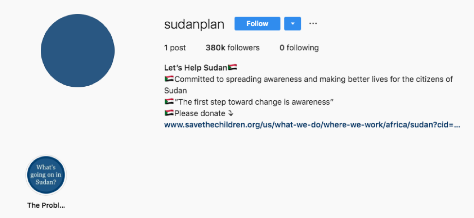 Sudan Meal Project Instagram Scam