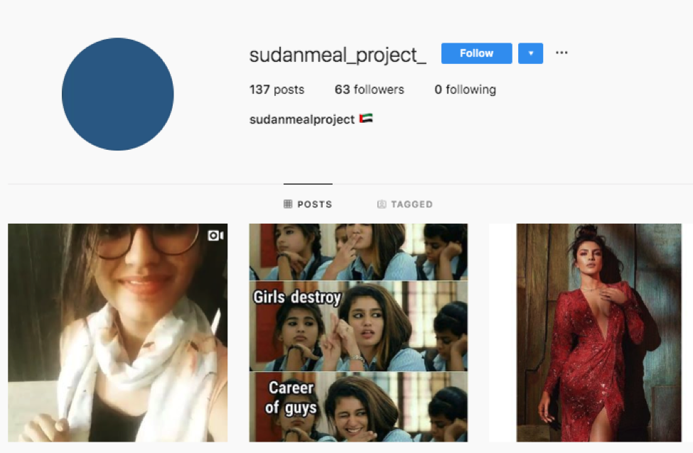 Sudan Meal Project scams emerge on Instagram