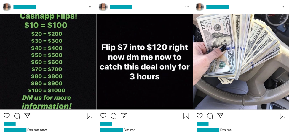 Cash App Scams:Giveaway Offers Ensnare Instagram Users, While YouTube Videos Promise Easy Money
