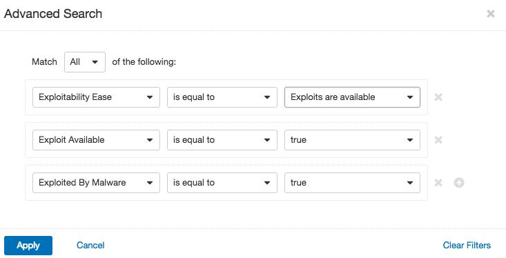 Filter for exploitability