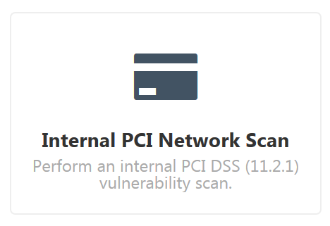 Internal PCI Network Scan