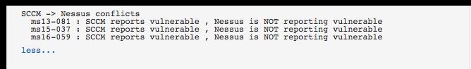 SCCM to Nessus