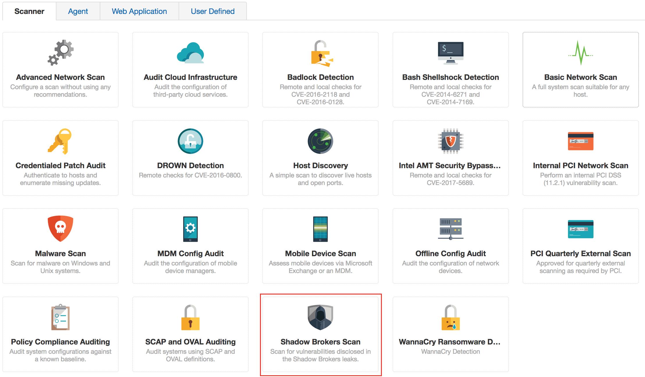 Tenable.io scan template for Shadow Brokers vulnerabilities