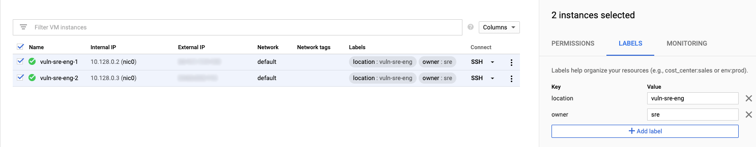 Tagging with GCP Labels