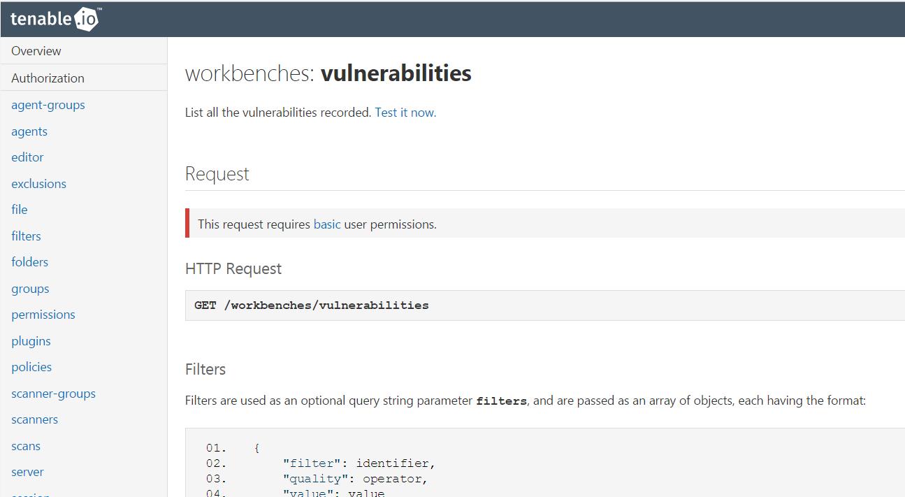 Tenable.io API