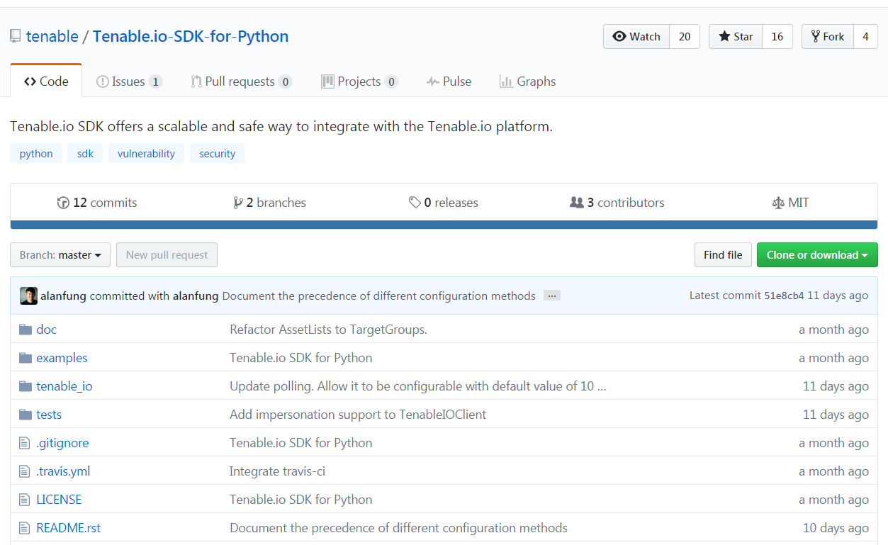 Tenable.io SDK for Python