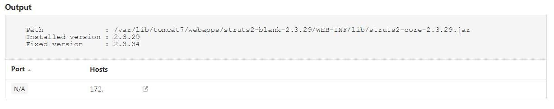 Apache Struts Unix output
