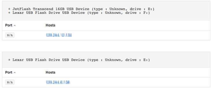 Example using USB Drives Enumeration Plugin #24274