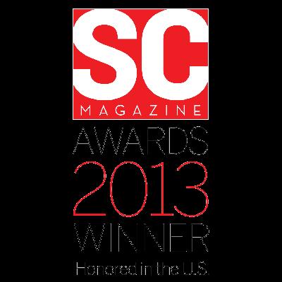 2013 SC Magazine Winner award