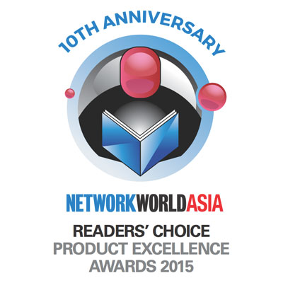 NetworkWorld Asia Readers' Choice Product Excellence Award 2015