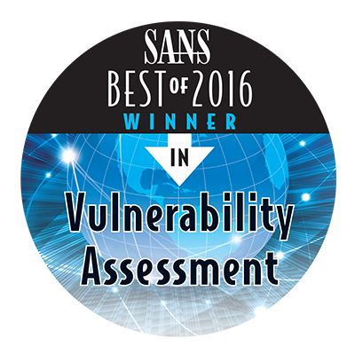 SANS Best of 2016 Winner in Vulnerability Assessment