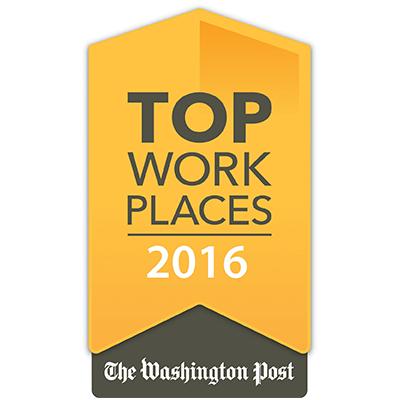 Washington Post Top Places to Work 2016
