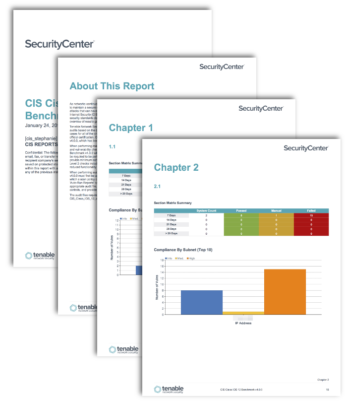 CIS Cisco Benchmark Reports - SC Report Template | Tenable®