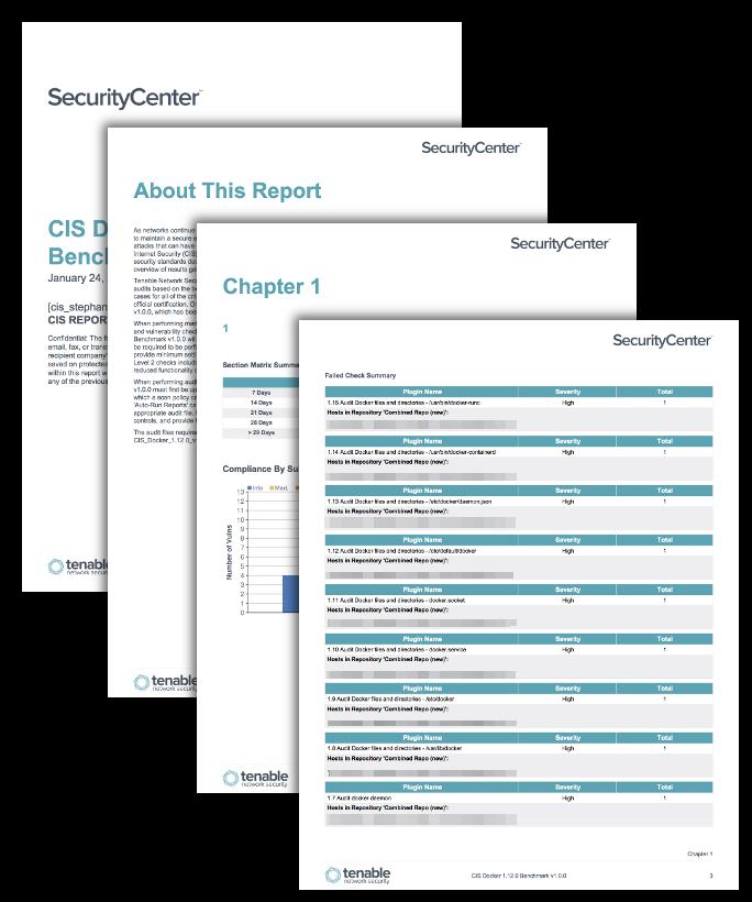 CIS Docker Benchmark Reports - SC Report Template | Tenable™