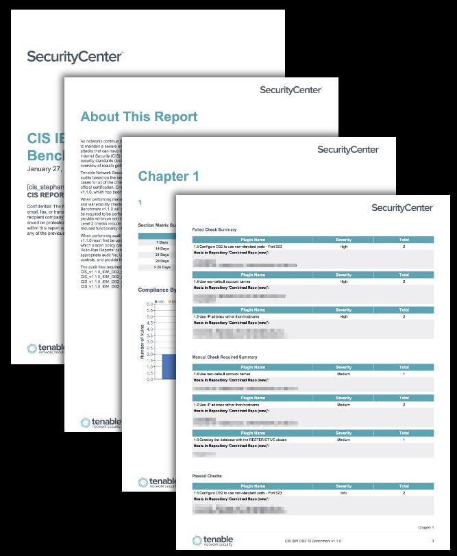CIS IBM Benchmark Reports - SC Report Template | Tenable®