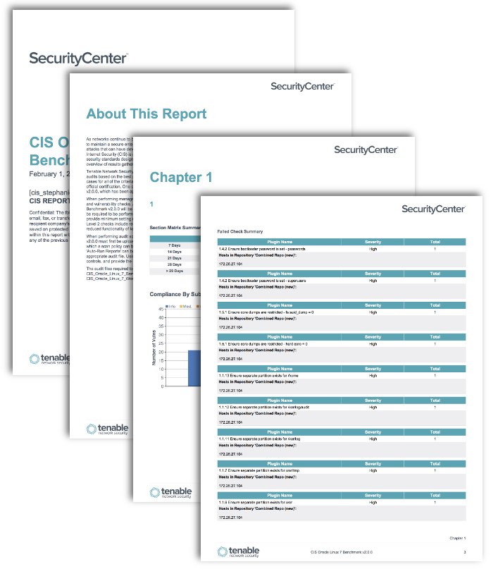 CIS Oracle Benchmark Reports - SC Report Template   Tenable™
