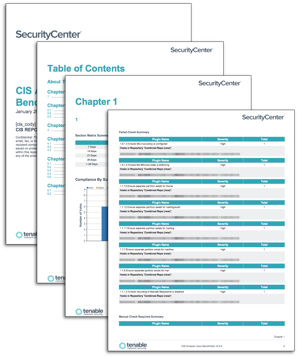 CIS Linux and Unix Benchmark Reports - SC Report Template | Tenable™