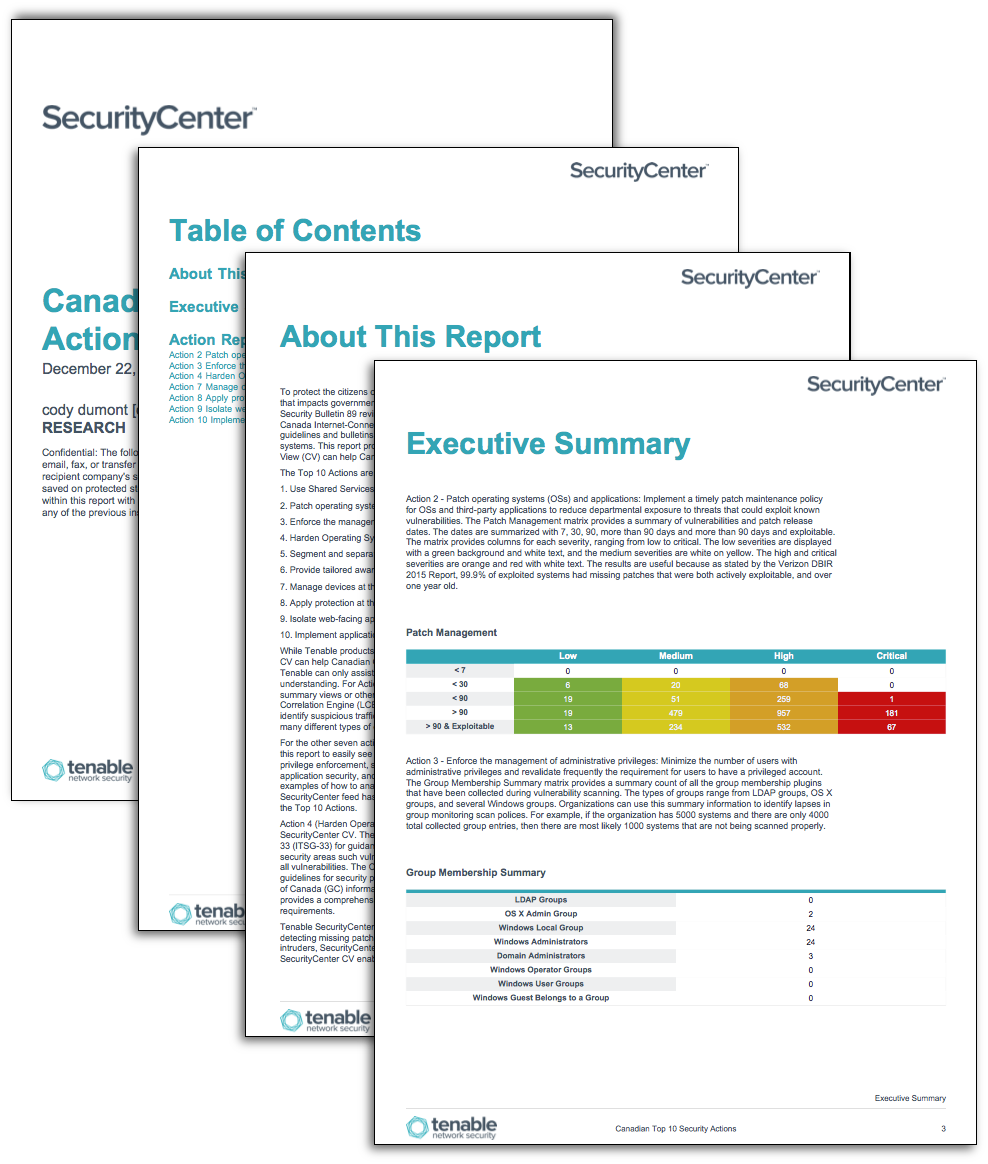 Cyber Security Report Template from www.tenable.com