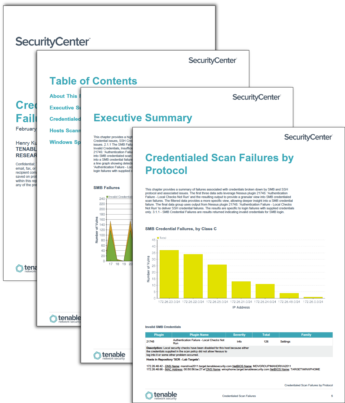 Credentialed Scan Failures - SC Report Template | Tenable®