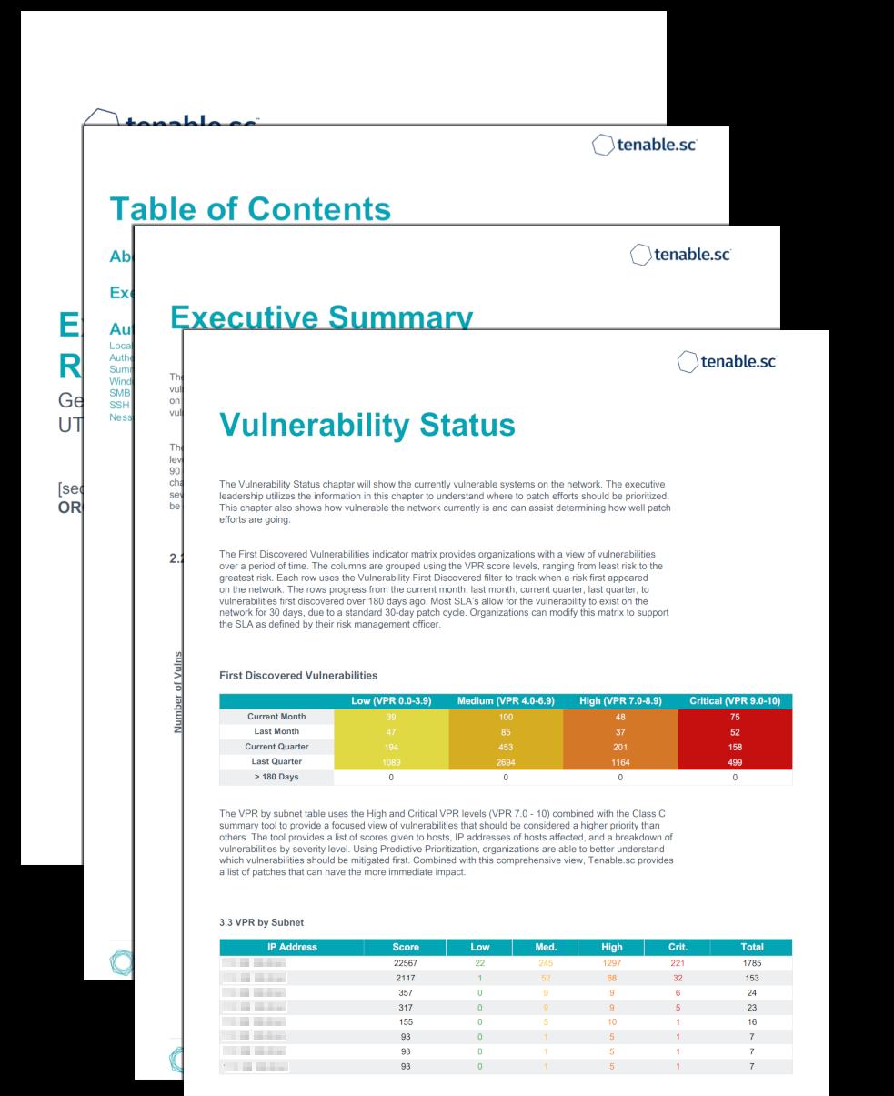 Executive VPR Summary Report