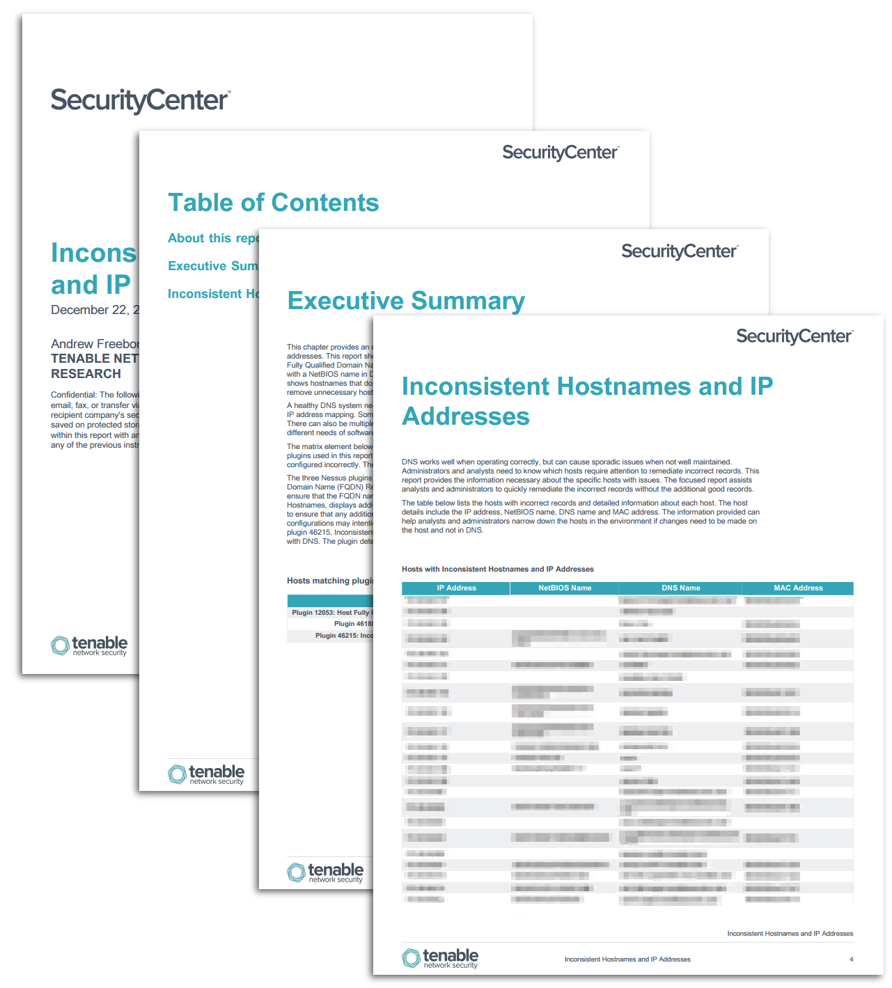 Inconsistent Hostnames and IP Addresses - SC Report Template