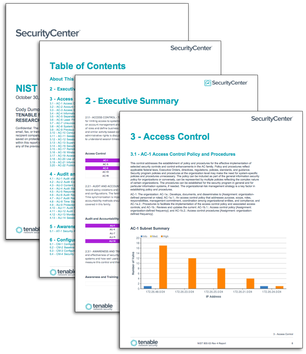 Nist 800 53 configuration auditing sc report template for Nist sp 800 18 template