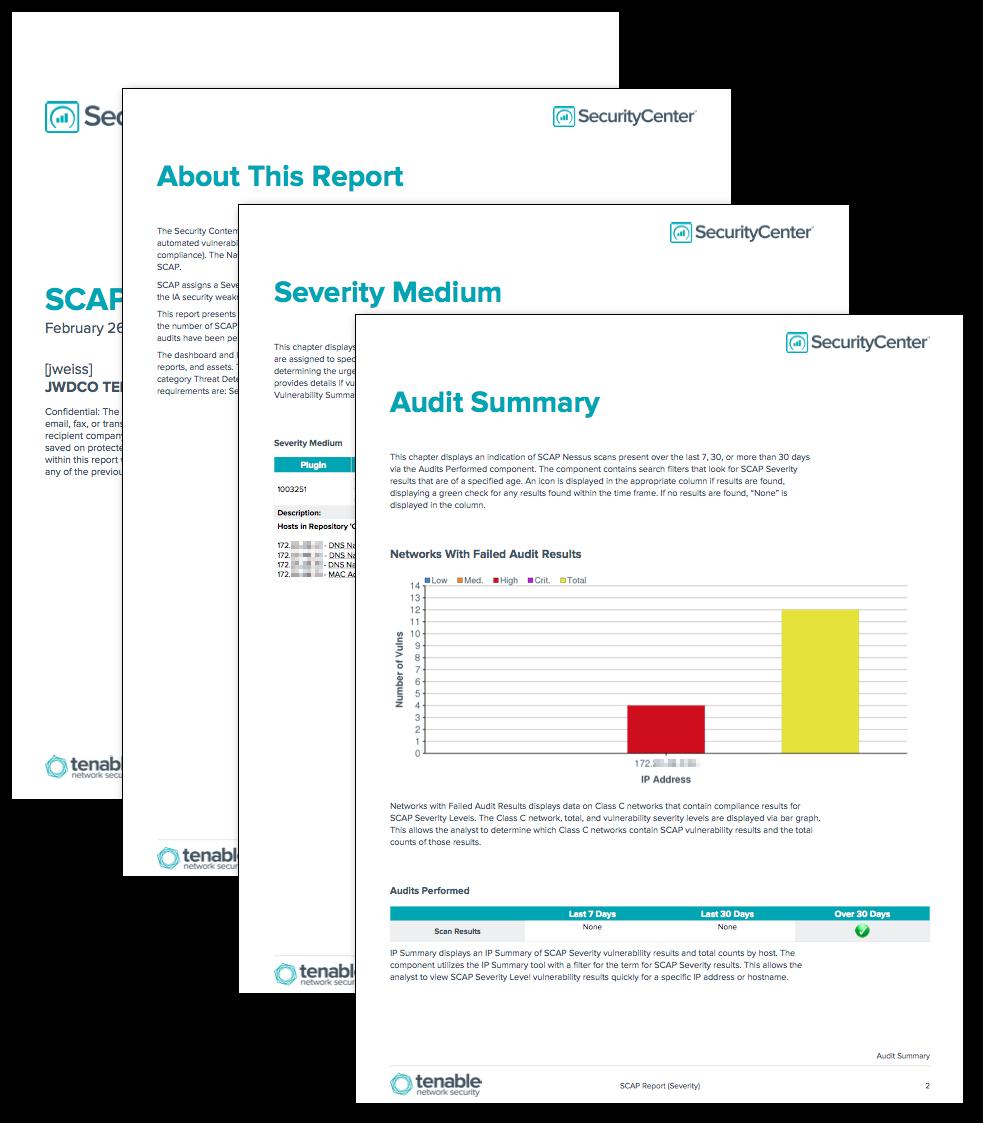 SCAP Alerts Report (Severity)