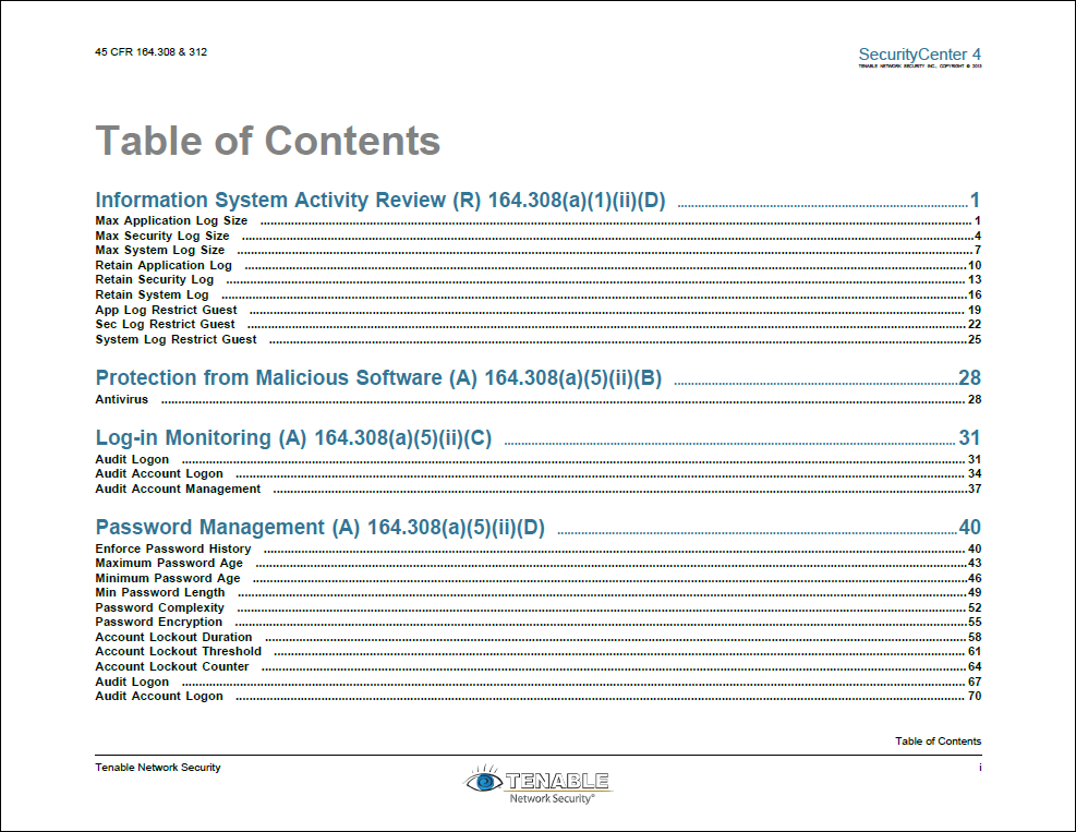 hipaa monitoring report sc report template tenable network