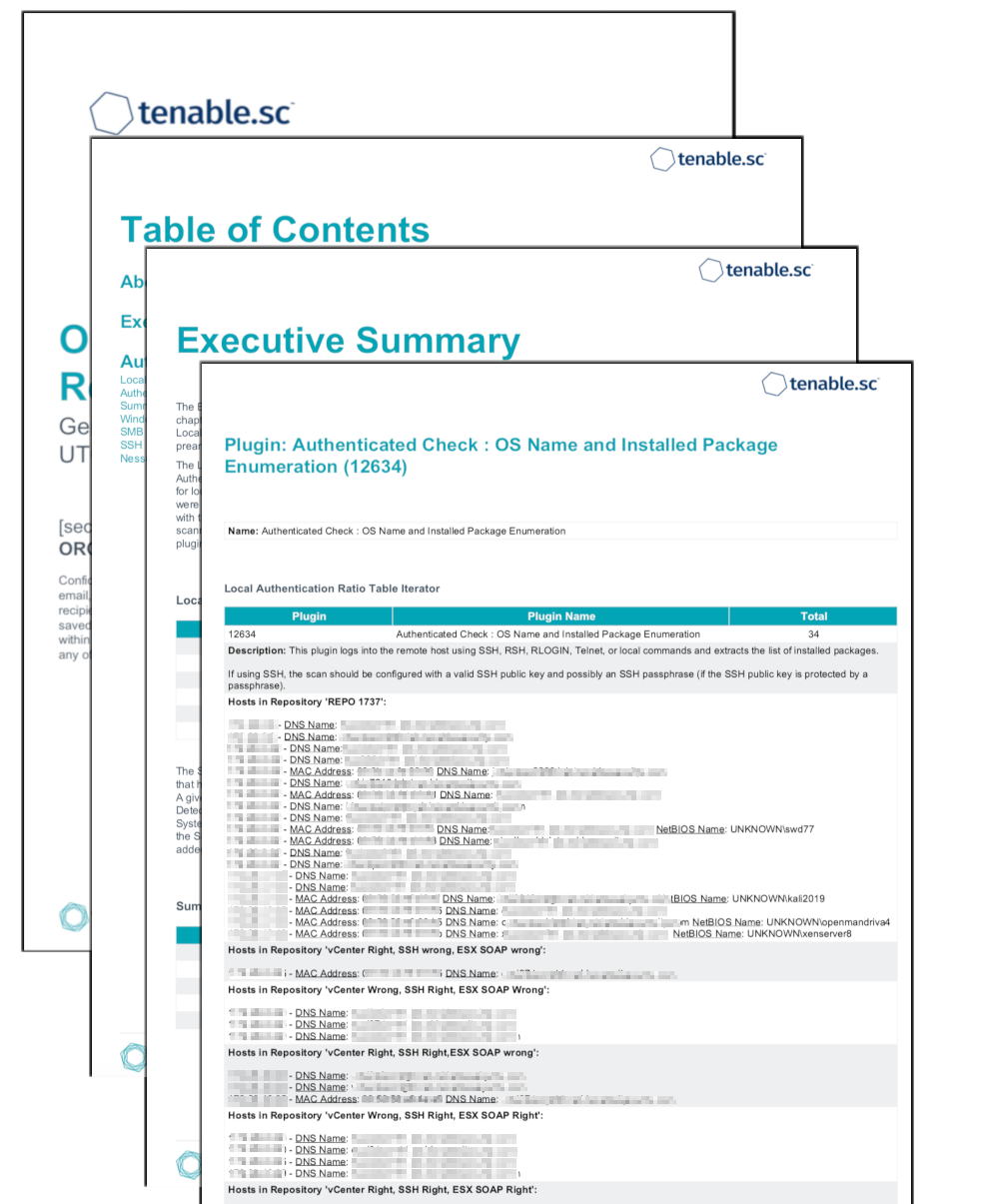 Operations Authentication Report
