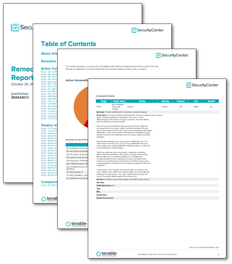 security remediation plan template - remediation instructions report by vulnerability sc