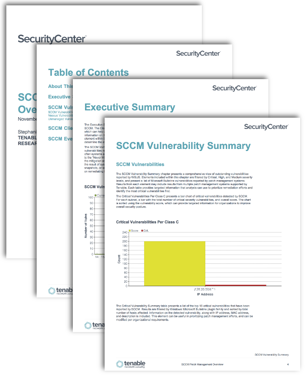 SCCM Patch Management Overview - SC Report Template | Tenable®
