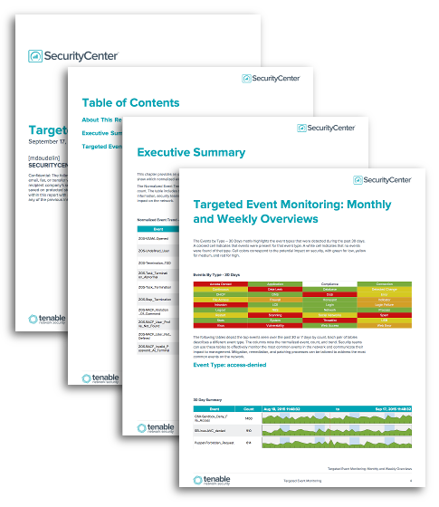 Targeted Event Monitoring Report