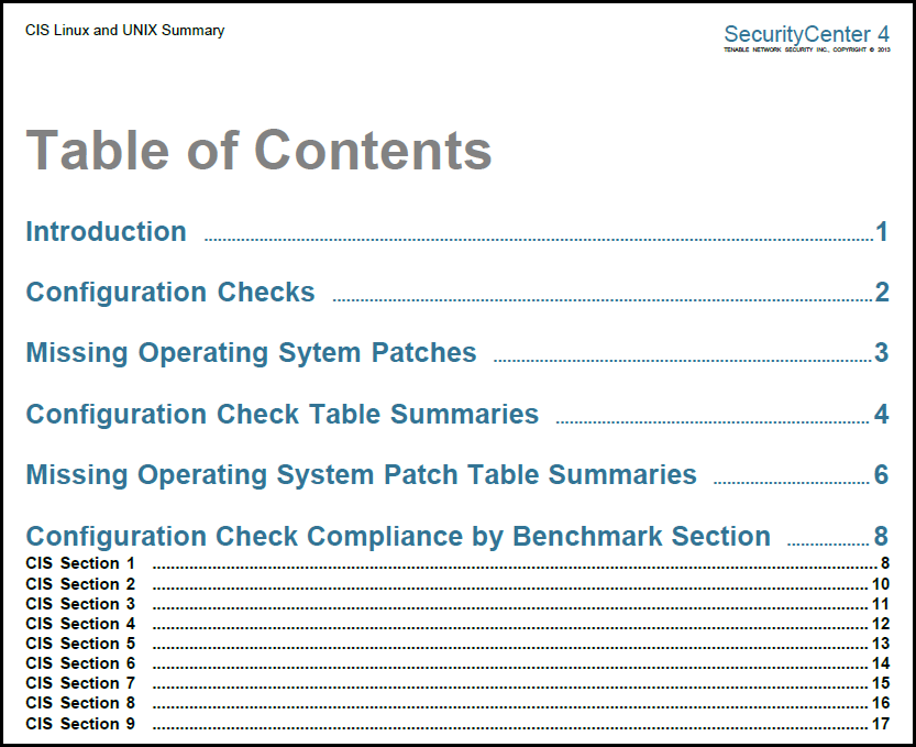 cis linux and unix summary tenable network security