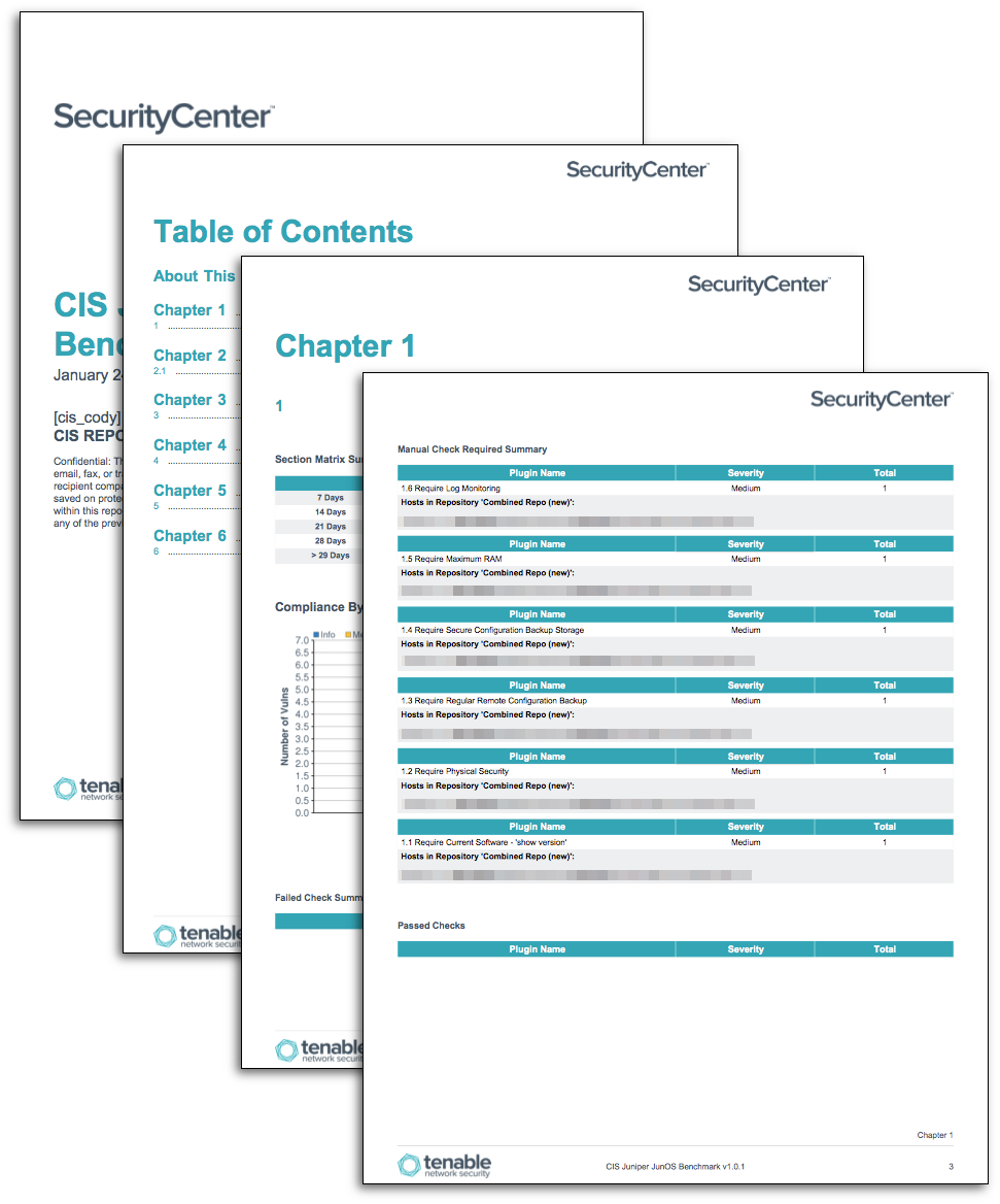 CIS JUNOS Benchmark Reports - SC Report Template | Tenable®
