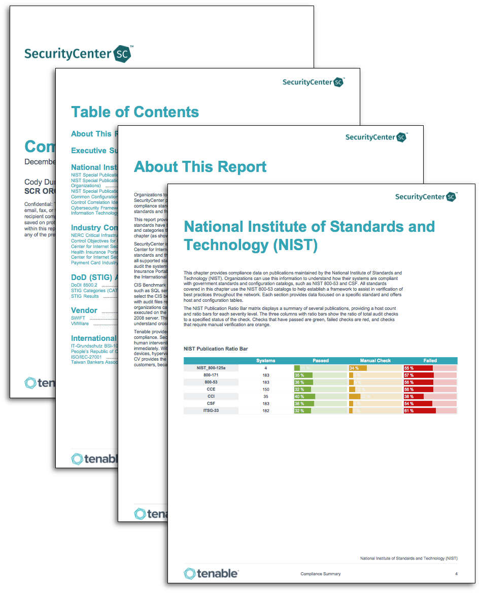 Compliance Summary Report Sc Report Template Tenable