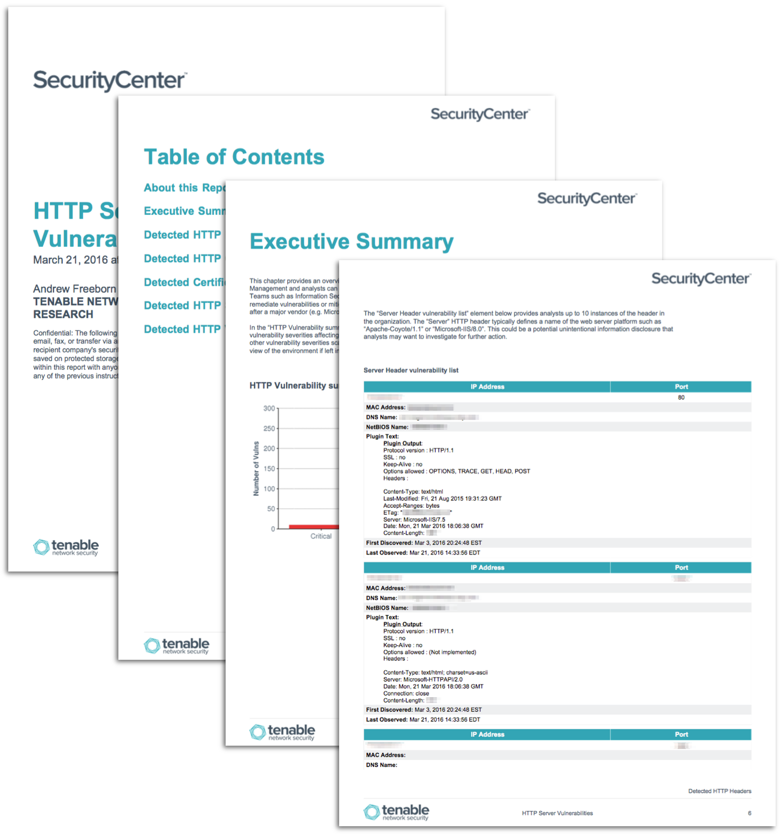 Http Server Vulnerabilities Report Sc Report Template Tenable