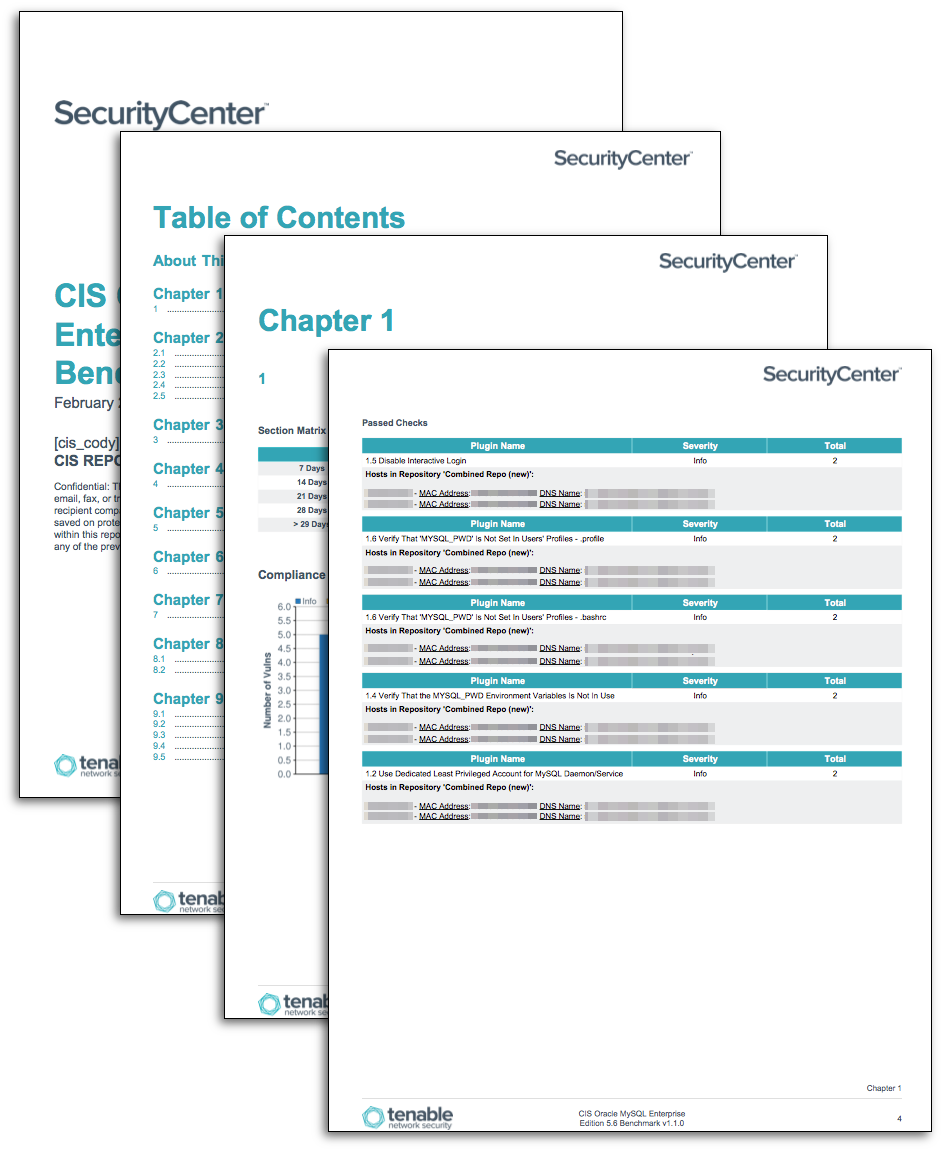 CIS MySQL Benchmarks - SC Report Template | Tenable®